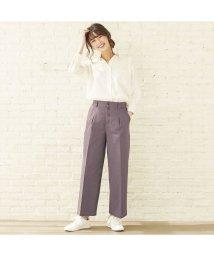 +nokto/ウィメンズシャツ  フロント釦ワイドストレートパンツ チャコールグレー系/502849141