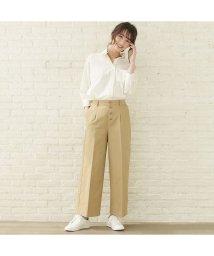 +nokto/ウィメンズシャツ  フロント釦ワイドストレートパンツ 綿100% ベージュ系/502849142