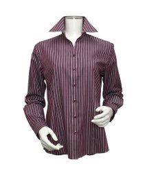 BRICKHOUSE/ウィメンズシャツ長袖形態安定 スキッパー衿 エンジ系/502849202