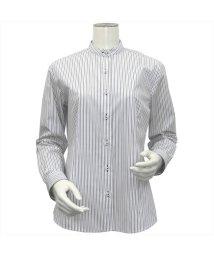 BRICKHOUSE/ウィメンズシャツ長袖形態安定 スタンド衿 グレー系/502849364
