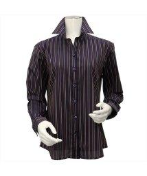 BRICKHOUSE/ウィメンズシャツ長袖形態安定 スキッパー衿 ネイビー系/502849369