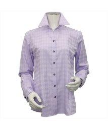 BRICKHOUSE/ウィメンズシャツ長袖形態安定 スキッパー衿 パープル系/502849371