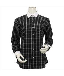 BRICKHOUSE/ウィメンズシャツ長袖形態安定 ワイド衿 ブラック系/502849377