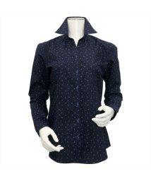 BRICKHOUSE/ウィメンズシャツ長袖形態安定 スキッパー衿 ネイビー系/502849379