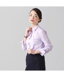 BRICKHOUSE/ウィメンズシャツ長袖形態安定 レギュラー衿 パープル系/502849380