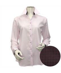 BRICKHOUSE/ウィメンズシャツ長袖形態安定 スキッパー衿 ピンク系/502849381