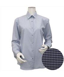 BRICKHOUSE/ウィメンズシャツ長袖形態安定 レギュラー衿 ブルー系/502849382