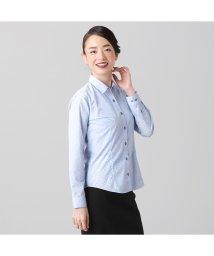 BRICKHOUSE/ウィメンズシャツ長袖形態安定 レギュラー衿 サックス系/502849387