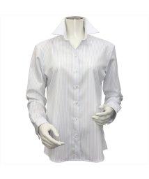 BRICKHOUSE/ウィメンズシャツ長袖形態安定 スキッパー衿 グレー系/502849388