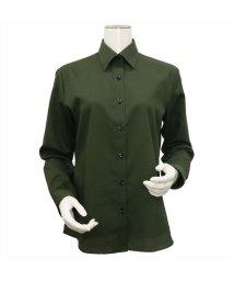 BRICKHOUSE/ウィメンズシャツ長袖形態安定 レギュラー衿 カーキ系/502849391