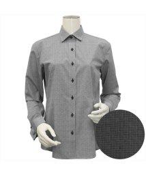BRICKHOUSE/ウィメンズシャツ長袖形態安定 ワイド衿 ブラック系/502849392