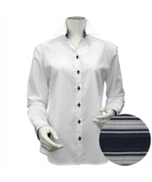 BRICKHOUSE/ウィメンズシャツ長袖形態安定 スキッパー衿 白系/502849393