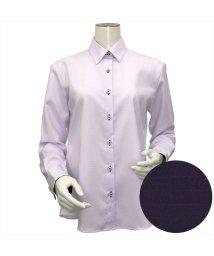 BRICKHOUSE/ウィメンズシャツ長袖形態安定 レギュラー衿 パープル系/502849397