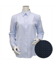 BRICKHOUSE/ウィメンズシャツ長袖形態安定 レギュラー衿 サックス系/502849398