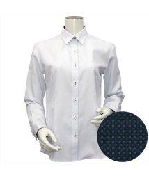 BRICKHOUSE/ウィメンズシャツ長袖形態安定 レギュラー衿 サックス系/502849401