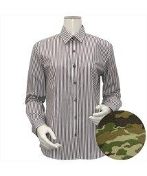 BRICKHOUSE/ウィメンズシャツ長袖形態安定 レギュラー衿 ブラウン系/502849402