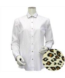 BRICKHOUSE/ウィメンズシャツ長袖形態安定 ワイド衿 白系(透け防止)/502849404