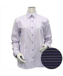 BRICKHOUSE/ウィメンズシャツ長袖形態安定 レギュラー衿 パープル系(透け防止)/502849430