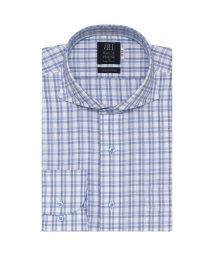 BRICKHOUSE/ワイシャツ長袖形態安定 ホリゾンタルワイド綿100% ブルー系/502849553