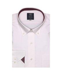 BRICKHOUSE/ワイシャツ 長袖 形態安定 ドゥエボットーニボタンダウン 白×ピンク 標準体/502849568