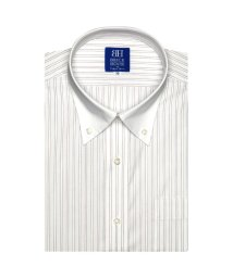 BRICKHOUSE/ワイシャツ 半袖 形態安定 クレリック ボタンダウン 白×エンジ/502849573
