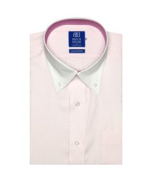 BRICKHOUSE/ワイシャツ 半袖 形態安定 クレリック ボタンダウン  ピンク×市松格子/502849622