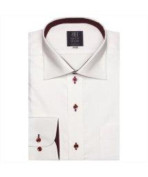 BRICKHOUSE/ワイシャツ 長袖 形態安定 ワイド ピンク×ピンク刺子調柄 標準体/502849657