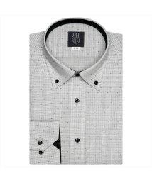 BRICKHOUSE/ワイシャツ長袖形態安定 ボタンダウン グレー系/502849677
