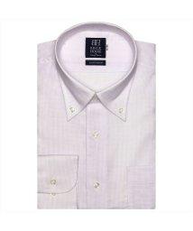 BRICKHOUSE/ワイシャツ長袖形態安定 ボタンダウン綿100% パープル系/502849827