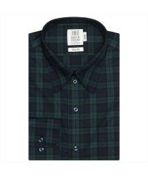 BRICKHOUSE/ワイシャツ長袖形態安定 ラウンド ネイビー系 スリム/502849875