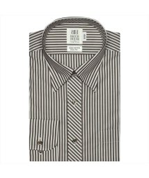BRICKHOUSE/ワイシャツ長袖形態安定 スナップダウン綿100% ブラウン系 スリム/502849877