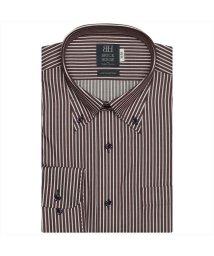 BRICKHOUSE/ワイシャツ長袖形態安定 ボタンダウン綿100% エンジ系/502849888