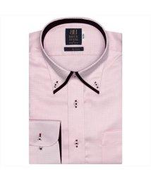 BRICKHOUSE/ワイシャツ長袖形態安定 ボタンダウン綿100% ピンク系/502849890