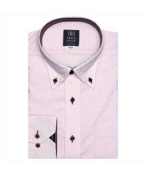 BRICKHOUSE/ワイシャツ長袖形態安定 ボタンダウン ピンク系/502849898