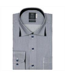 BRICKHOUSE/ワイシャツ長袖形態安定 ワイド綿100% ネイビー系/502849921