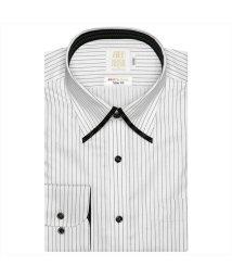 BRICKHOUSE/ワイシャツ長袖形態安定 スナップダウン綿100% ブラック系 スリム/502849957