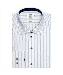 BRICKHOUSE/ワイシャツ長袖形態安定 ワイド ブルー系 スリム/502849987