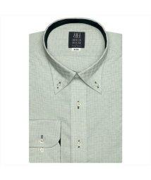 BRICKHOUSE/ワイシャツ長袖形態安定 ボタンダウン グリーン系/502850004
