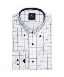 BRICKHOUSE/ワイシャツ長袖形態安定 ボタンダウン ブルー系/502850007