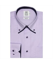 BRICKHOUSE/ワイシャツ長袖形態安定 ボタンダウン綿100% パープル系 スリム/502850015