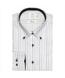 BRICKHOUSE/ワイシャツ長袖形態安定 ボタンダウン綿100% ネイビー系 スリム/502850055