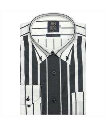 BRICKHOUSE/ワイシャツ長袖形態安定 ボタンダウン綿100% グレー系/502850057