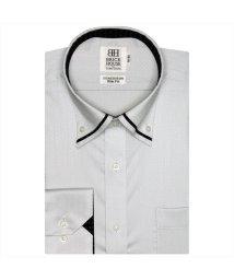 BRICKHOUSE/ワイシャツ長袖形態安定 ボタンダウン綿100% グレー系 スリム/502850061