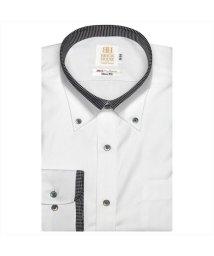 BRICKHOUSE/ワイシャツ長袖形態安定 ボタンダウン綿100% 白系 スリム/502850064