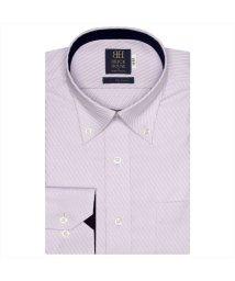 BRICKHOUSE/ワイシャツ長袖形態安定 ボタンダウン綿100% パープル系/502850072