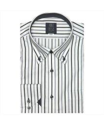 BRICKHOUSE/ワイシャツ長袖形態安定 ボタンダウン ブラック系/502850095