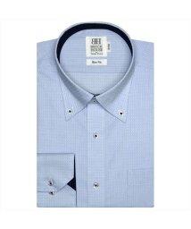 BRICKHOUSE/ワイシャツ長袖形態安定 ボタンダウン サックス系 スリム/502850104