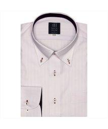 BRICKHOUSE/ワイシャツ長袖形態安定 ボタンダウン ピンク系/502850118