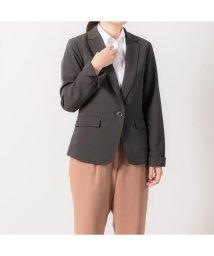 BRICKHOUSE/ウィメンズシャツ テーラードジャケット(ダブルクロス) チャコールグレー系/502850309
