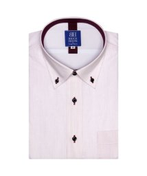BRICKHOUSE/ワイシャツ 半袖 形態安定 ドゥエボットーニ ボタンダウン 白×ピンク/502850518